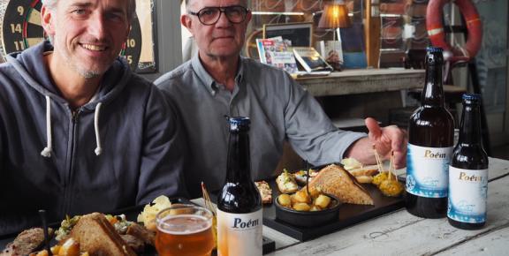 Gerald Pelleau, fondateur de la brasserie Poèm, et Christian Landouzy, chef de La table Bretonne